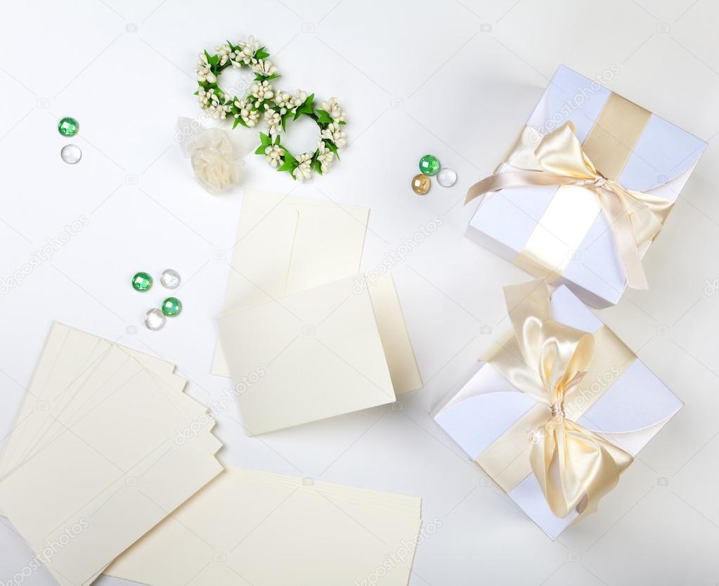 Blank wedding invitation — Stock Photo © dp3010 #61937599