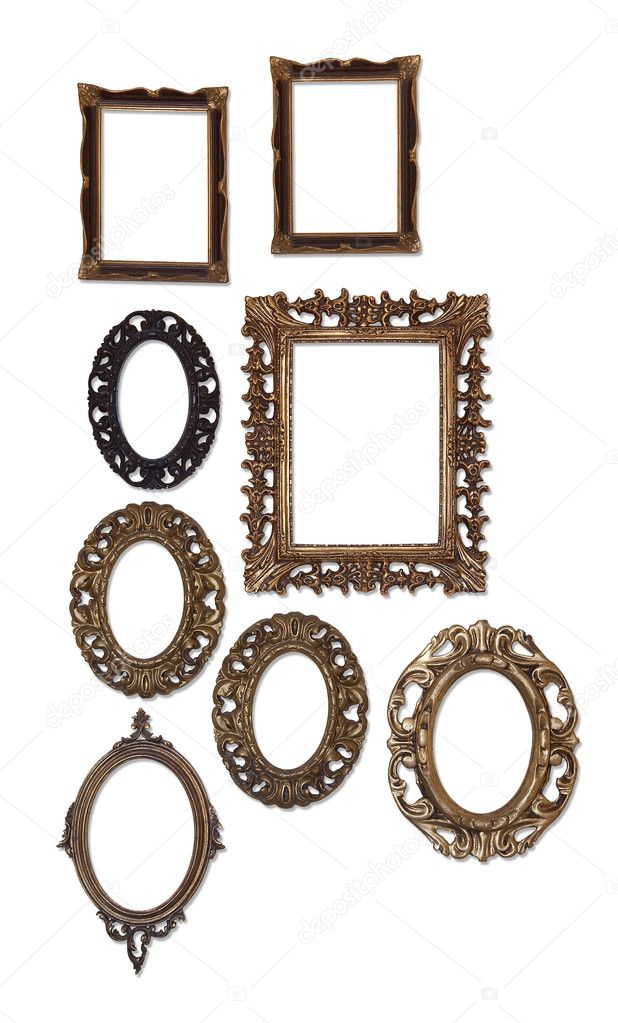 Group of empty frames on white — Stock Photo © dp3010 #84012188