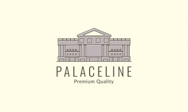 Big palace line vintage   logo vector icon design illustration icon