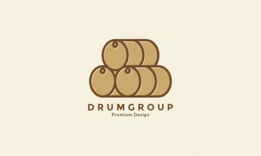 Pile drum logo symbol vector icon graphic design illustration icon