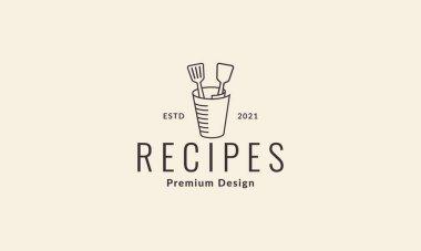 Paper roll with spatula logo vector symbol icon design illustration icon