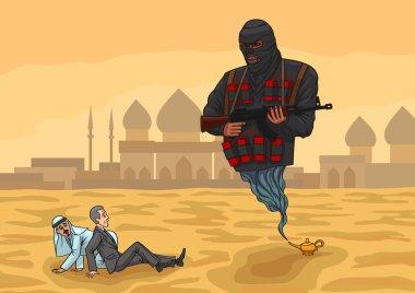 Genie terrorist and politicians.