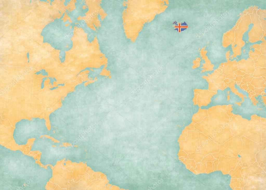 atlanten karta Karta över norra Atlanten   Island — Stockfotografi © Tindo #101164050 atlanten karta