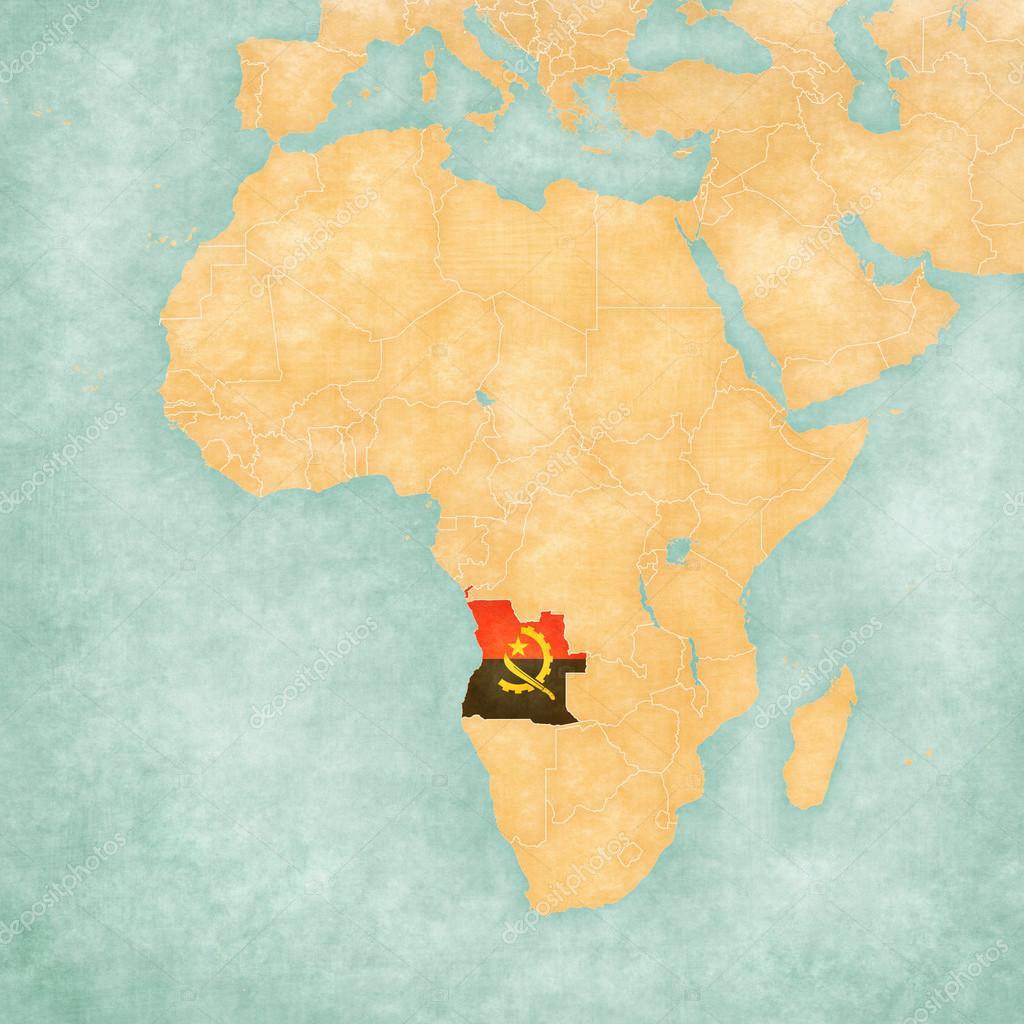 Africa Map Angola.Map Of Africa Angola Stock Photo C Tindo 110812898