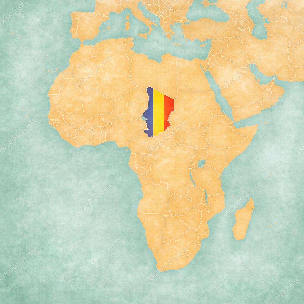 Carte De Lafrique Tchad.Carte De L Afrique Tchad Photographie Tindo C 111509214