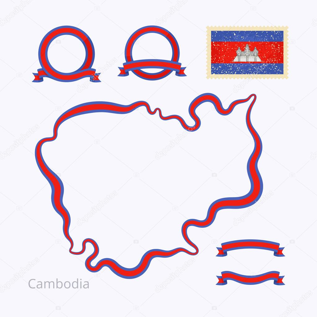 Colors Of Cambodia Stock Vector Tindo - Package of map colors