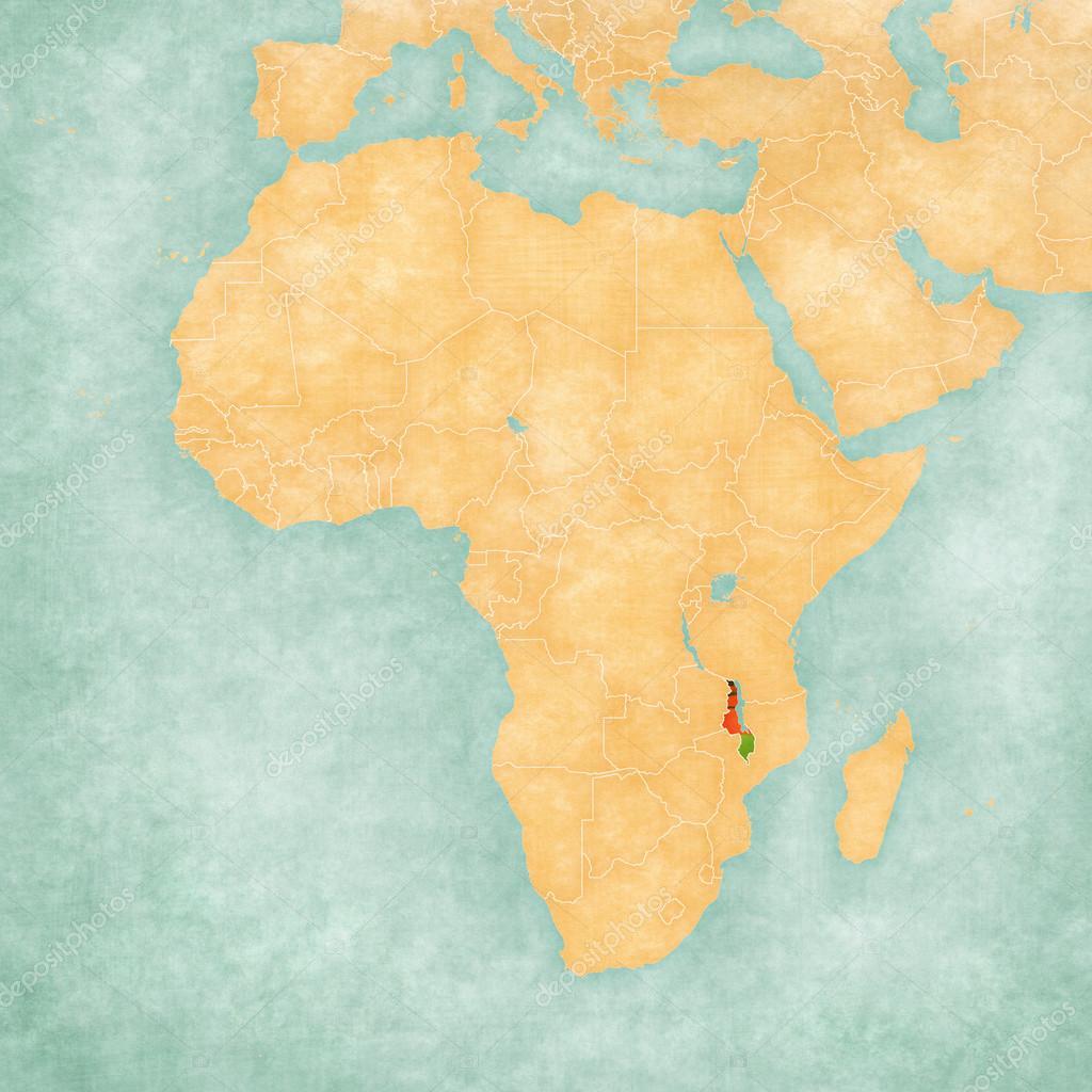 Malawi On Africa Map.Map Of Africa Malawi Stock Photo C Tindo 123590044