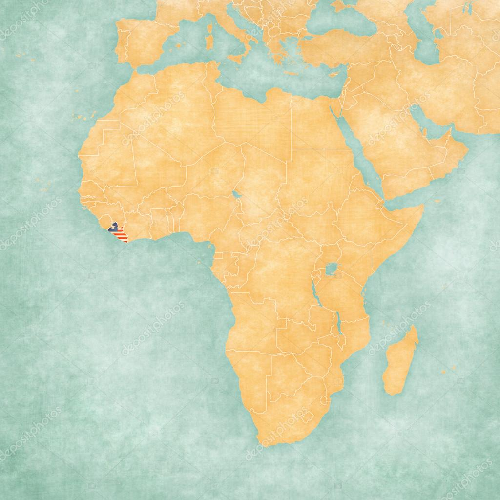 Map of Africa - Liberia — Stock Photo © Tindo #123599674