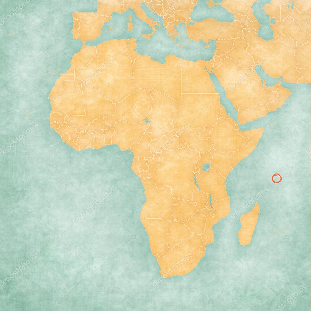 Mapa De Africa Islas Seychelles Foto De Stock C Tindo