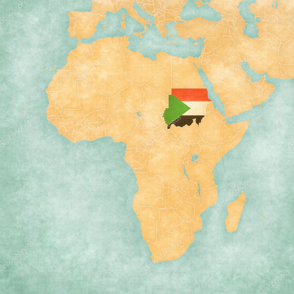 Cartina Africa In Italiano.Map Of Africa Sudan Stock Photo Image By C Tindo 124739512