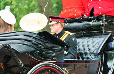 PRINCE HARRY AT Trooping of the color 2015 Prince Harry Carriage