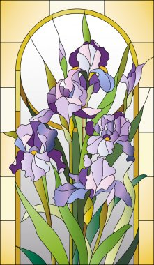 Stained glass pattern for a window