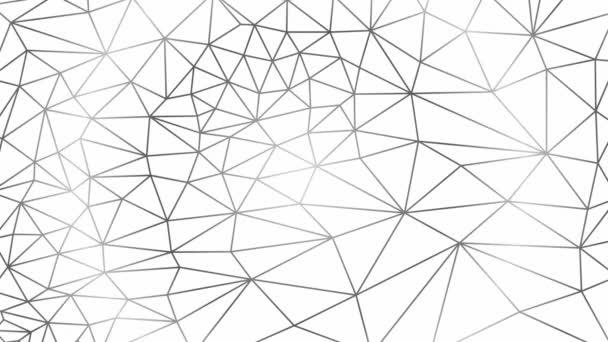 Animované abstraktní lineární geometrické pozadí z trojúhelníků. Plochá vektorová ilustrace na bílém pozadí.