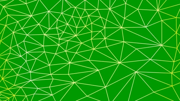 Animated abstract linear geometric background from triangles. Flat vector illustration on green background.