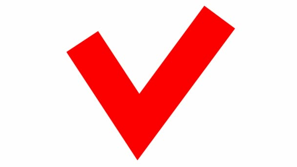 Zobrazí se červený kontrolní znak. Ploché vektorové ilustrace izolované na bílém pozadí.