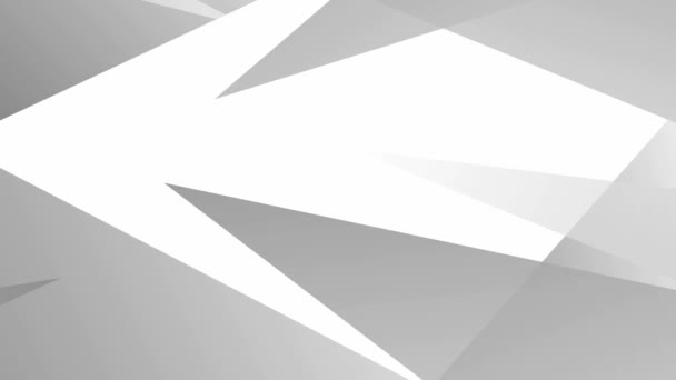 Animated abstract geometric gray background. Triangles appears on a white background. Vector illustration.