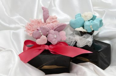wedding fawors whit soap flower