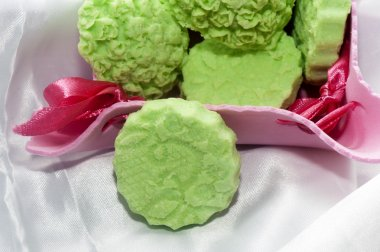 Biolagical home made green apple soap