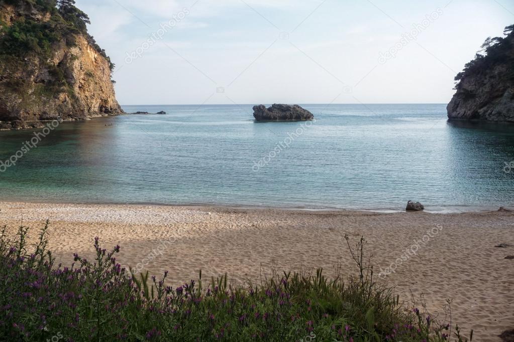Beautiful little sandy beach near Parga, Greece