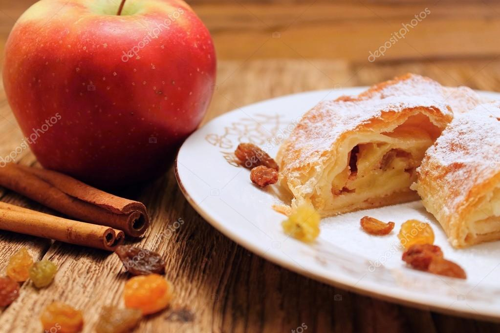 Apple strudel and cinnamon