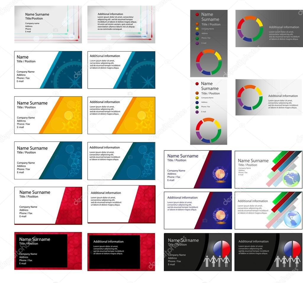Big set of Business cards — Stock Photo © yommy8008 #61925945