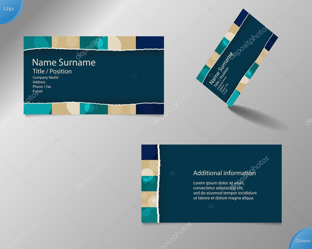 New dark blue business card layout — Stock Vector © yommy8008 #61926367
