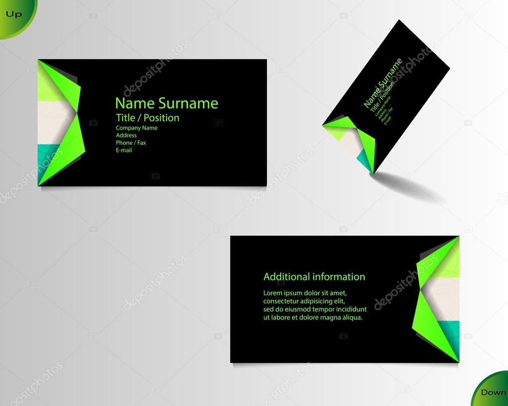 Business card layout — Stock Vector © yommy8008 #62547097
