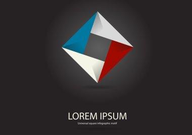 Square infographic logo