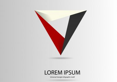 Triangle logo motif template