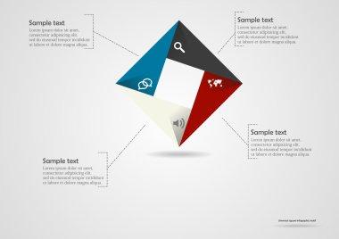 Square origami infographic