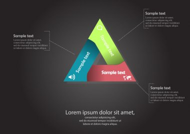 Triangle motif infographic