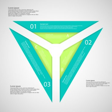 Triangle from three separate parts