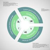 Kroužek ze tří zelených jednotlivých částí