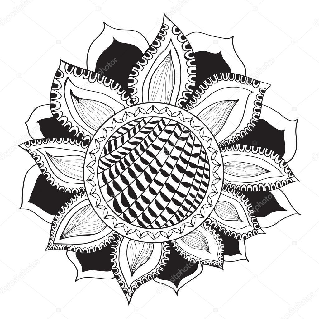 Ayçiçeği Doodle Tarzı Stok Vektör Margolana 109910678