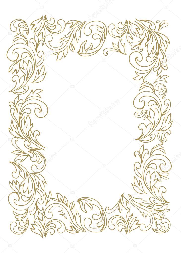 marco de arte de línea decorativa para la plantilla de diseño ...