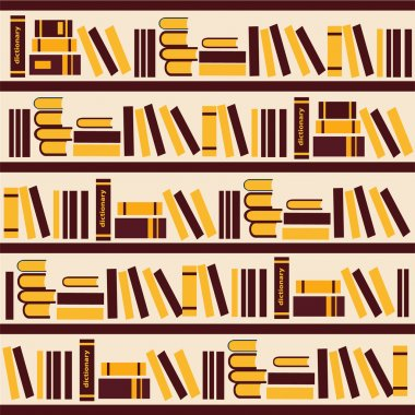 vector abstract bookshelf- Illustration