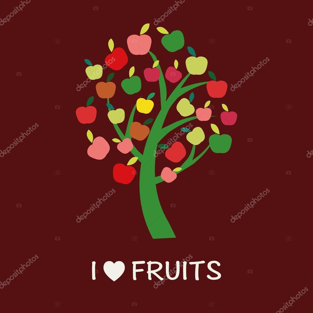 Apple Tree - Illustration - Illustration