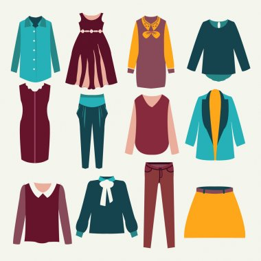 12 items of isolated female clothing
