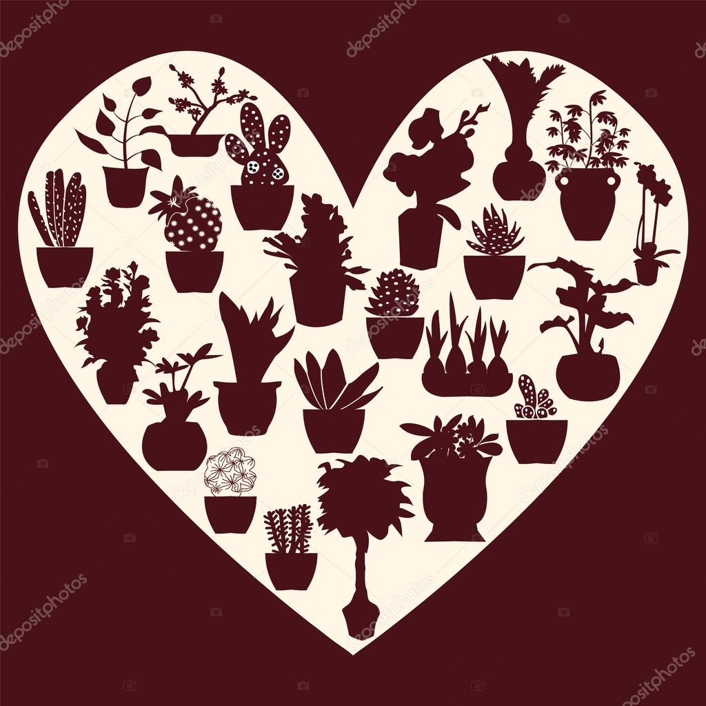set of collection Vector Decorative of Potted plant