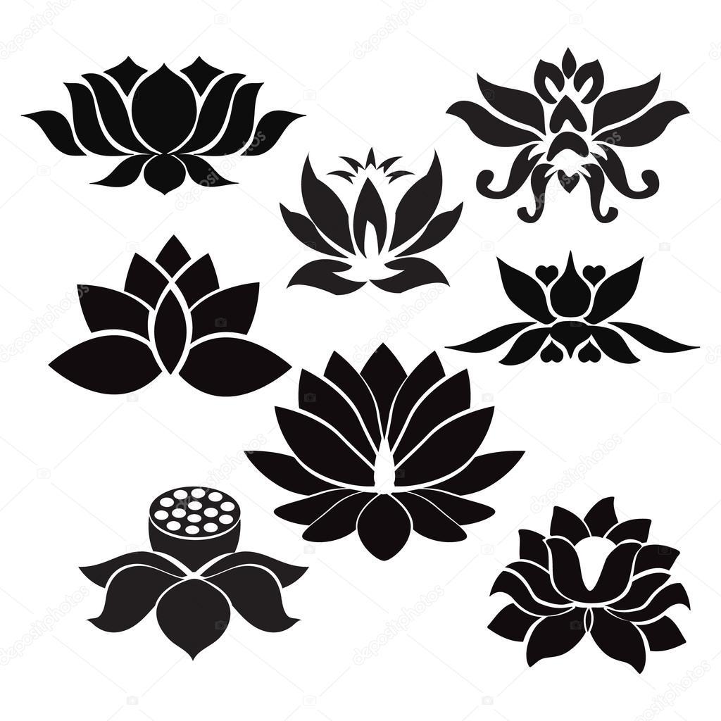 Lotus flowers tattoo illustration on white background stock lotus flowers tattoo illustration on white background stock vector izmirmasajfo Images
