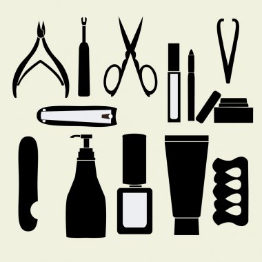 Personal nail pedicure and manicure style set - Illustration