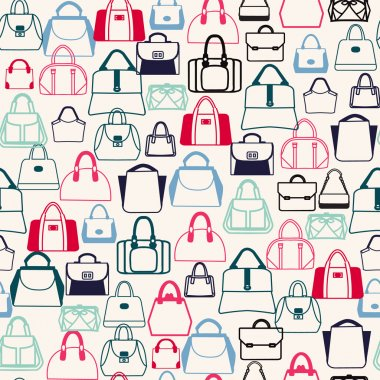 pattern of Bags Silhouettes  in a variety of shapes
