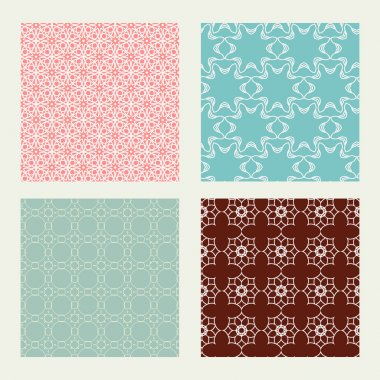 patterns set in trendy mono line style