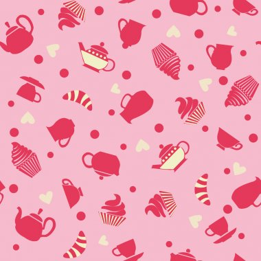 cute background with cupcakes