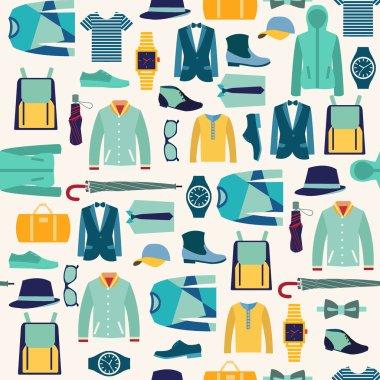 pattern fashionable mens wear background