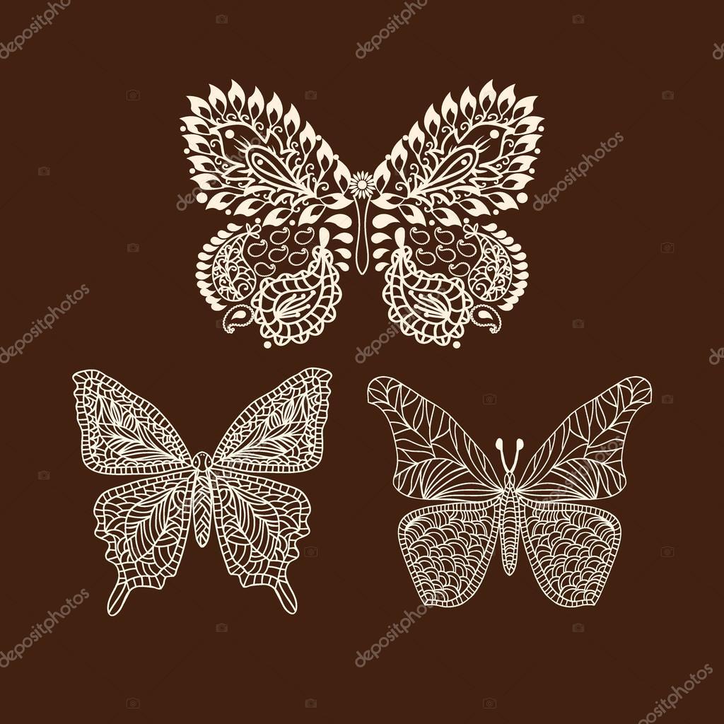Tattoo Doodle Henna Butterfly Stock Vector C Margolana 86683286