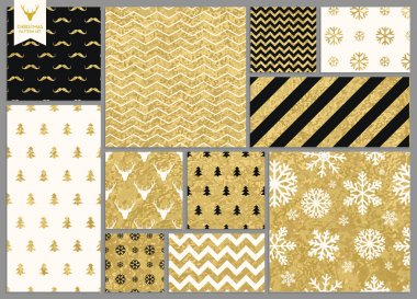 seamless gold texture Christmas patterns
