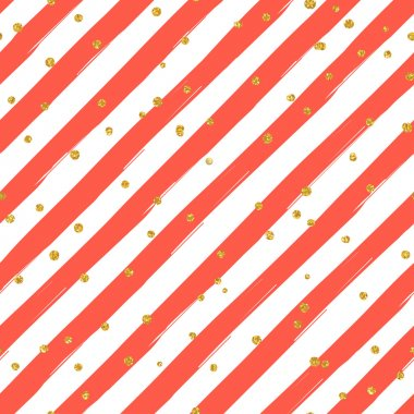 Gold glittering confetti pattern