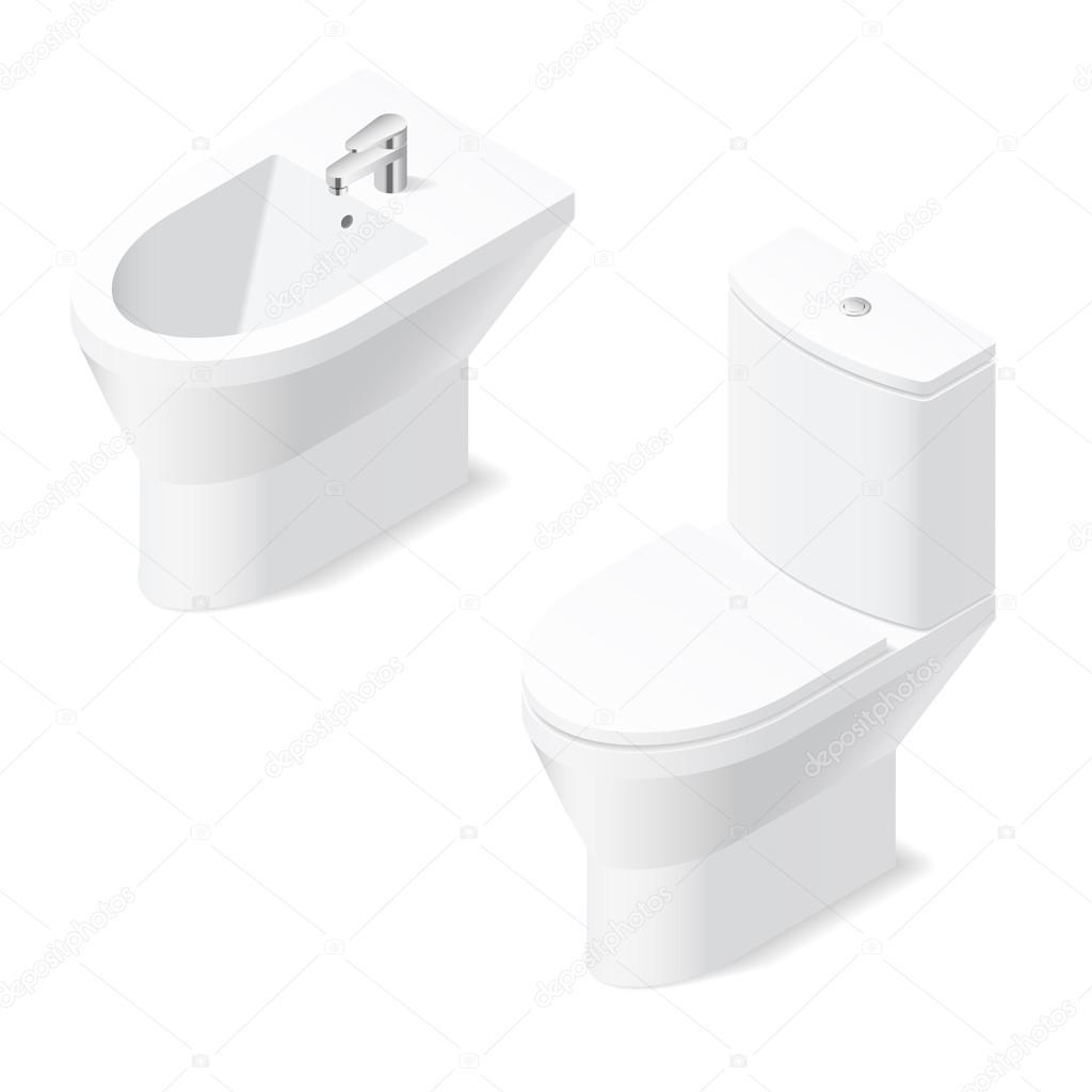 Tazza e bidet insieme vasobidet a terra xx cm argento for Water e bidet insieme