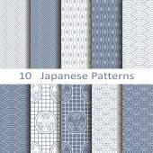 Fotografie Set of ten Japanese patterns